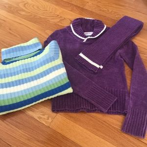 BUNDLE: two girls sweaters, both size medium